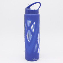 Portable Travel glass Water Bottles with Straw