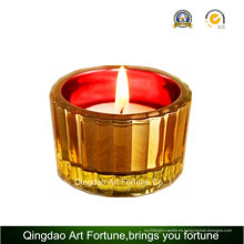 Mosaico de vidrio vela candelita titular proveedor para decoración del hogar