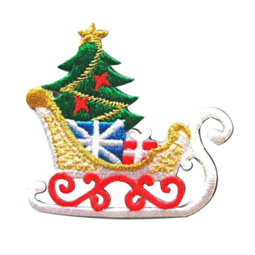 Christmas Tree with Star Embroidered Applique Patch