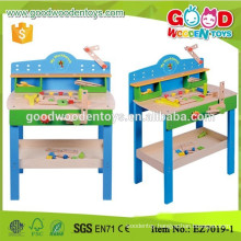 Hot Little Builder Game Blue Wooden Project Workbench Pretend Play Toy