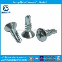 DIN7504 aço inoxidável philips semi-afundado parafuso de perfuração auto
