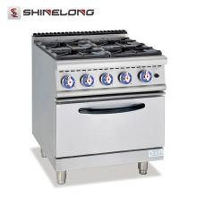 Gamme de gaz de série 700 de haute qualité avec le grand équipement de cuisson de 4 brûleurs et de four électrique