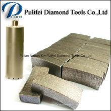 Utilisation de forage de maçonnerie et segment de foret de noyau de matériau de diamant
