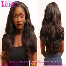 2015 brazilian virgin full lace wig thick human hair wigs for black women