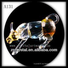 Bonita estatuilla de animales de cristal A131