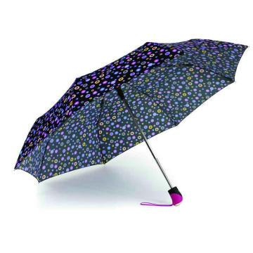 Bunte DOT Print 3 Falten öffnen und schließen Regenschirme (YS-3FD22083969R)