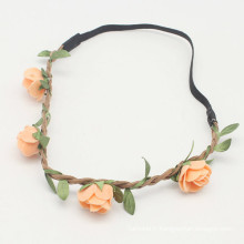 Paper Peach Floral Flower Girls Hairband (HEAD-283)