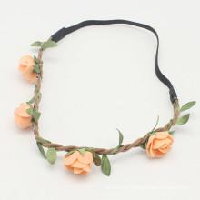 Бумажная персиковая цветочная клумба для девочек цветов (HEAD-283)