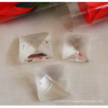 Crystal Bead Curtain Perles carrées en cristal avec trou