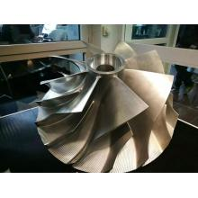titanium impeller by 5 axis CNC machines for engines