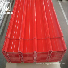 Prepainted Roofing Raw Materials Prices List For Color Coated 16 Gauge Corrugated Steel Sheets