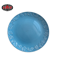 Maple Leaf Ceramic Style Plastic Charger Plate