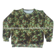 Military Pullover with All Sizes, Dye-sub Printing, No Size Limit