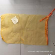 pe tubular mesh bag for ginger,potato with label