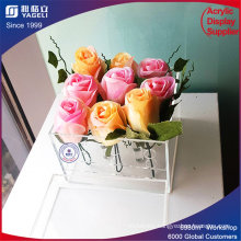 Wholesale Clear 9PCS Acrylic Flower Box for Wedding