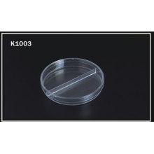 Plato desechable del Petri de 90 * 15m m - Two-Compart