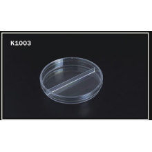 90*15mm Disposable Petri Dish - Two-Compart