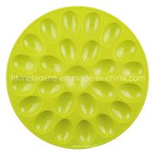 Bandeja redonda para huevos de melamina (TR6687)