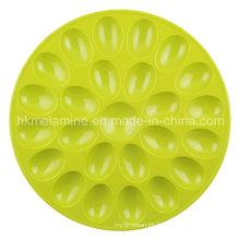 Bandeja redonda de huevos de melamina (TR6687)