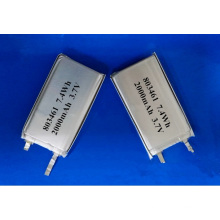 2000mAh 803461 Batterie Li-Polymer 3.7V Lithium-Polymer Battery