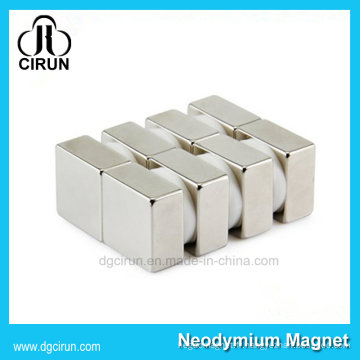 Aimant fort de néodyme de forme de bloc de la coutume N35 pour le moulin à vent
