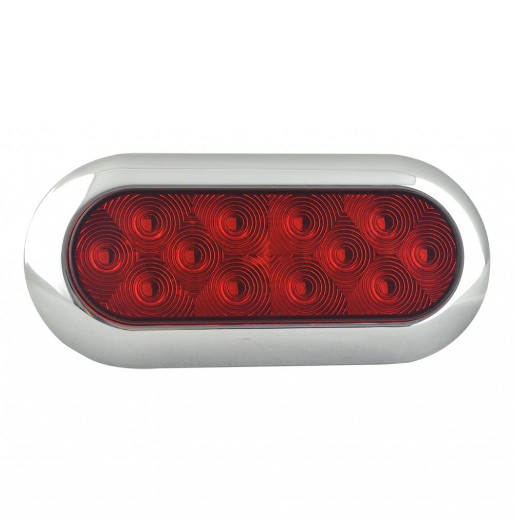 "100% Waterproof DOT 6"" Oval LED Truck Rear Stop Lamps"