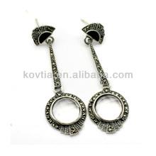Античная серебряная серьга 925 Таиланд