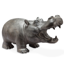 hippopotame miniature en bronze