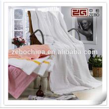 Pure Blanco Jacquard estilo 16s algodón de felpa toalla de baño Set