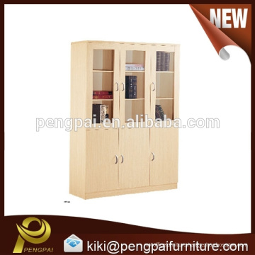 Wooden three doors filing cabinet design