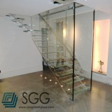 Top quality toughened glass factory tempered glass stair 8mm 10mm 12mm 15mm 19mm