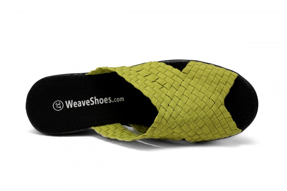 Round Toe Design Woven Slippers