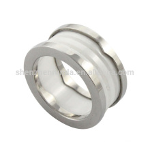 wholesale 2014 new fashion high quality stainless steel men ceramic ring from jewelry manufacturer