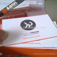 Imprimante de carte de visite recyclée imprimée imprimée imprimée imprimée
