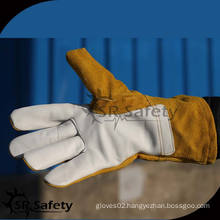 SRSAFETY High quality welding working leather gloves in china