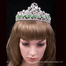 Corona de cristal grande de la tiara del Rhinestone de la boda