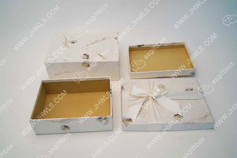 Natural Handmade Paper Gift Box