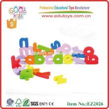 Letras engraçadas alfabeto caixa de madeira brinquedos educativos crianças madeira carta magnética para criança