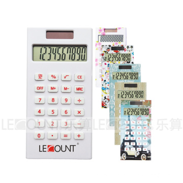 8 Digits Dual Power Pocket Calculator with Colorful Printing (LC336)