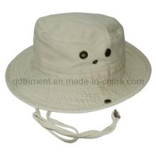 De calidad superior lavado de sarga de pesca de ocio cuchara Hat (TRBT017)