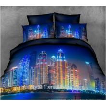 2017 Lámina de cama elegante de la flor del algodón del diseño nuevo Lecho de cama determinado mágico colorido BS34 de la cubierta de cama de la alta calidad 3d de la impresión