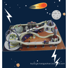 New Large Space Express Kinder spielen Set Holz Eisenbahn Spielzeug