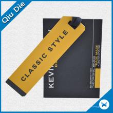 Etiquetas de bloqueio de vestuário com cordão de retângulo e nylon