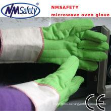 NMSAFETY два слоя духовка Митт перчатки теплостойкие перчатки