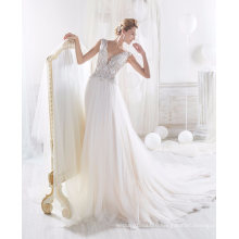 2017 Newest Beading Tulle Wedding Dress