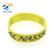 high grade colorful embossed wristband