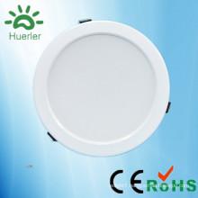 new white led downlight with 150mm cut out 100-240v 110v 220v smd5730 15w indoor down lighting led