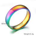 Дешевые оптовые гей цветной обручальные кольца нержавеющей стали для мужчин