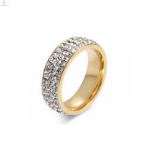 Neue Titan Stahl Schmuck Finger Gold Ring Design für Damen