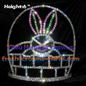 6inch Crystal Rabbit Crowns